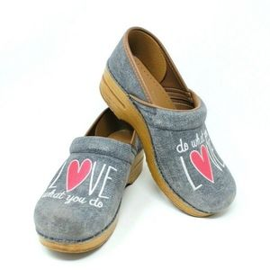 Dansko Twin Pro Love What You Do Embroidered Clogs